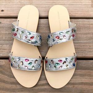 LOEFFLER RANDALL Jewel Clem Slide Sandals Flats